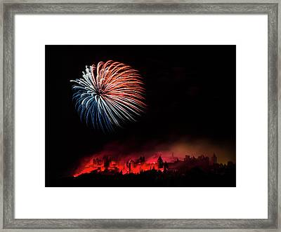 Fire Framed Print by Thierry Boitelle