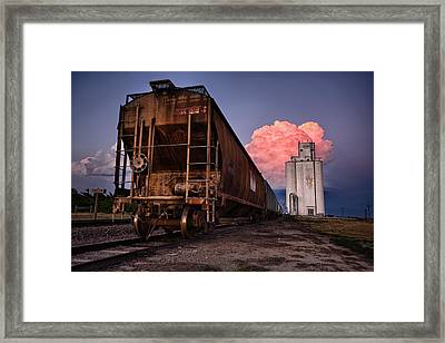 Fire Train Framed Print