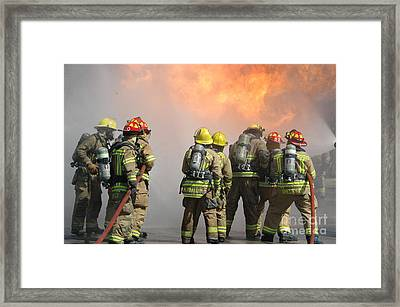 Fire Training  Framed Print by Steven Townsend