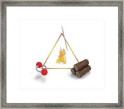 Fire Triangle Framed Print by Mikkel Juul Jensen
