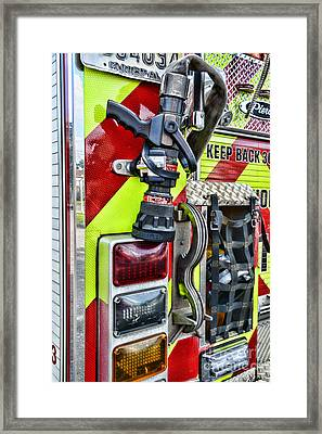 Fire Truck - Keep Back 300 Feet Framed Print