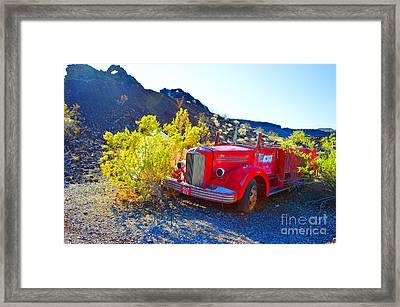 Fire Truck Parking Framed Print