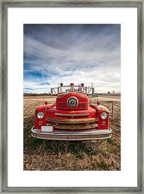 Fire Truck Framed Print by Peter Tellone