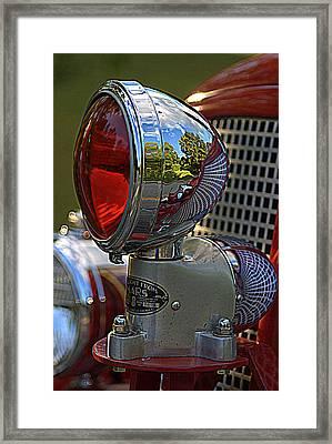 Fire Truck Reflections Framed Print