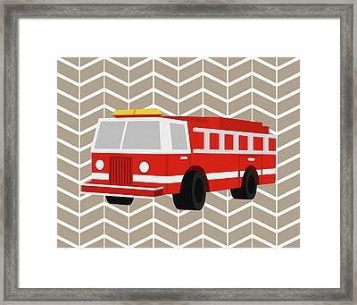 Fire Truck Framed Print by Tamara Robinson