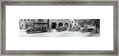 Fire Trucks Alexandria Va Framed Print