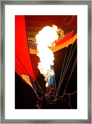 Fire Up The Night Framed Print by Daniel Woodrum