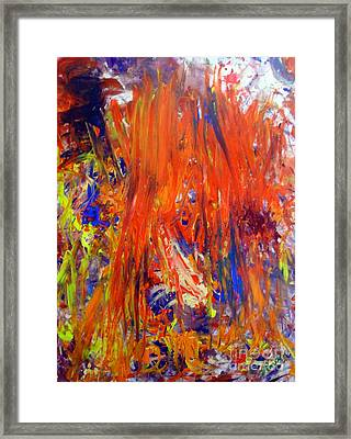 Fire Framed Print by Venus