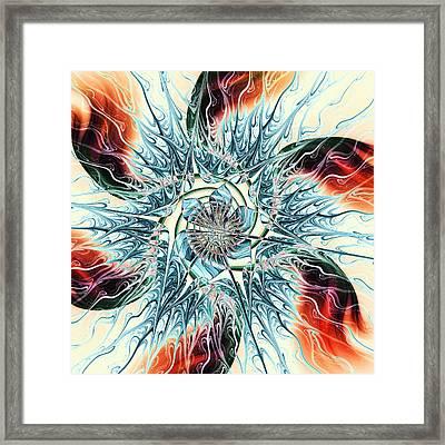 Fire Vs Ice Framed Print by Anastasiya Malakhova
