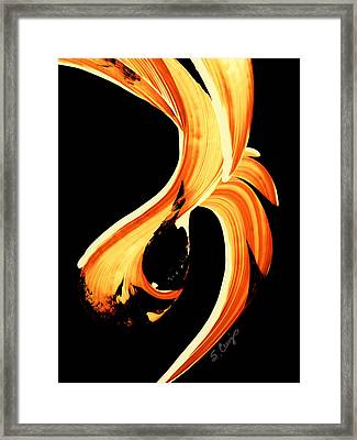 Fire Water 260 By Sharon Cummings Framed Print by Sharon Cummings
