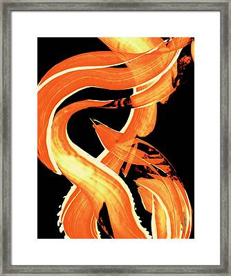 Fire Water 302 By Sharon Cummings Framed Print by Sharon Cummings