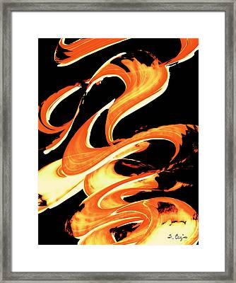 Fire Water 314 By Sharon Cummings Framed Print