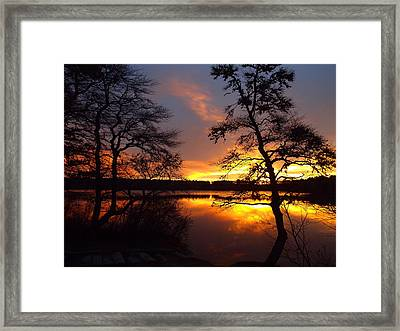 Framed Print featuring the photograph Sunrise Fire by Dianne Cowen
