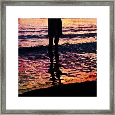 Fire Water Framed Print by Laura Fasulo
