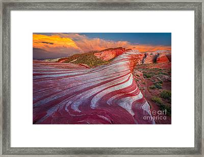Fire Wave Framed Print by Inge Johnsson