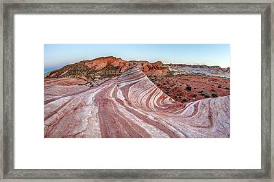 Fire Wave Nevada Framed Print by Pierre Leclerc Photography