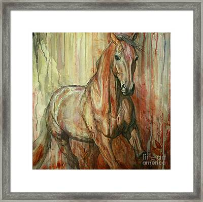 Fire Within Framed Print by Silvana Gabudean Dobre