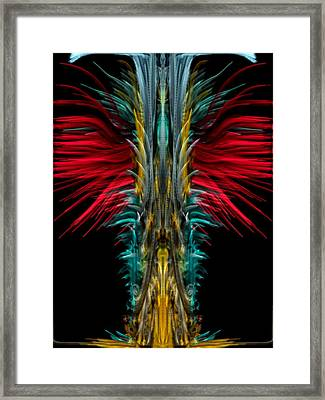 Fire Works Framed Print by Kruti Shah