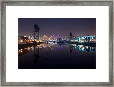 Fire Works Night Glasgow Framed Print