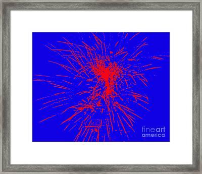 Fire Works Framed Print by Shelia Kempf