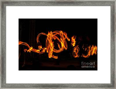 Fire Writing Framed Print by Mandy Judson