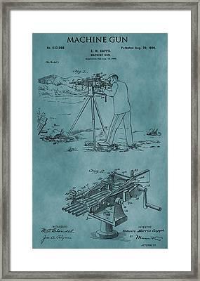Firearm Machine Gun Patent Framed Print