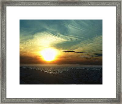 Fireball Descending Framed Print by George Cousins