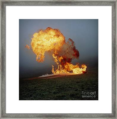 Fireball From Liquid Petroleum Gas Framed Print by Crown Copyright/Health & Safety Laboratory