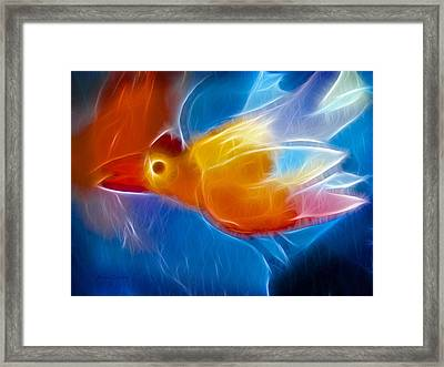 Firebird Framed Print by Ann Croon