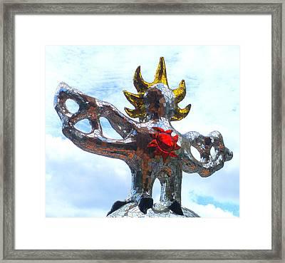Firebird Heart Framed Print by Randall Weidner