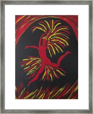 Firebird Framed Print by Sharyn Winters