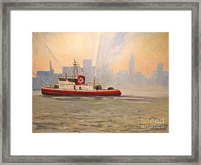Fireboat John D. Mckean Framed Print