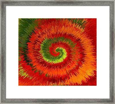Framed Print featuring the photograph Fireburst Extrusion by Ellen Tully