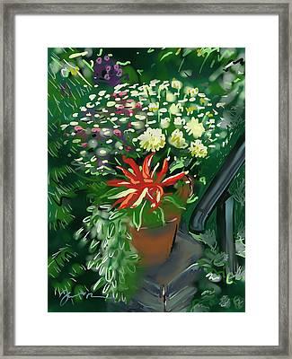 Firecracker Peppers Framed Print