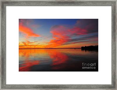 Firecracker Sunset 19 Framed Print by Terri Gostola