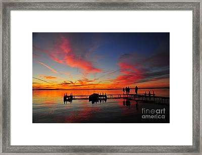 Firecracker Sunset 28 Framed Print by Terri Gostola