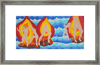 Framed Print featuring the painting Fired by Erika Chamberlin