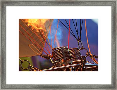 Fired Up Framed Print by Daniel Woodrum