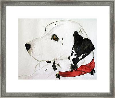 Firedog Framed Print