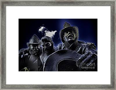 Firefighter Heroes Framed Print