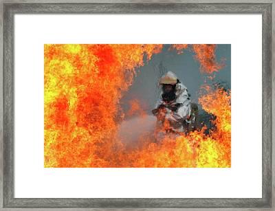 Firefighter Framed Print