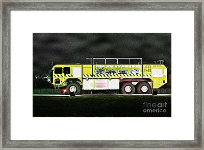 Firefighters Christmas 2 Framed Print by Tommy Anderson