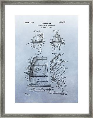 Firefighter's Helmet Patent Framed Print by Dan Sproul