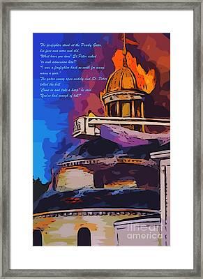 Firefighters Poem Framed Print