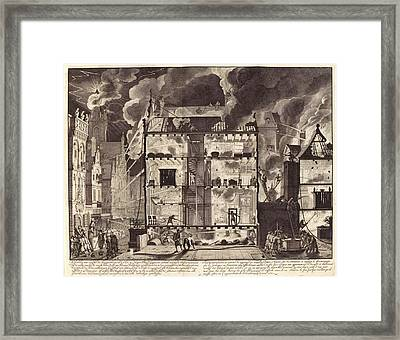 Firefighting In Amsterdam Framed Print by Manuscripts And Archives Division/new York Public Library
