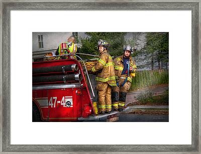 Firefighting - Only You Can Prevent Fires Framed Print by Mike Savad
