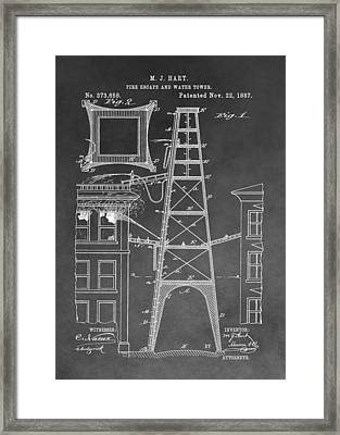 Firefighting Patent Framed Print by Dan Sproul