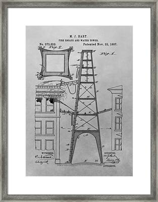 Firefighting Patent Drawing Framed Print