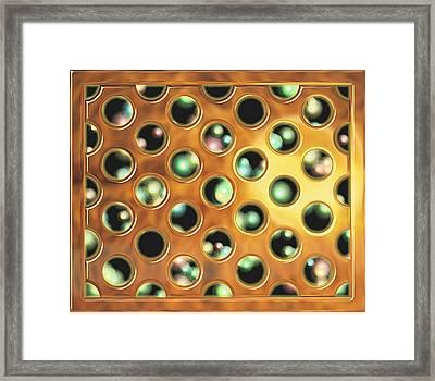 Fireflies Behind The Grate Framed Print