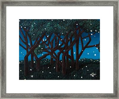 Fireflies Framed Print by Cheryl Bailey